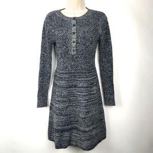 Club Monaco Marled Sweater Dress Wool Sz S/P